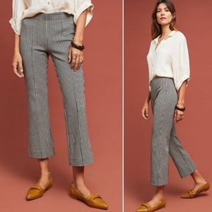 Anthropologie Houndstooth Kick Flare Pants